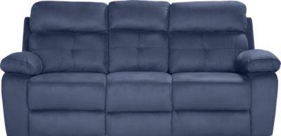 Corinne Blue Reclining Sofa Blue Reclining Sofa Reclining Sofa Reclining Sofa Decor