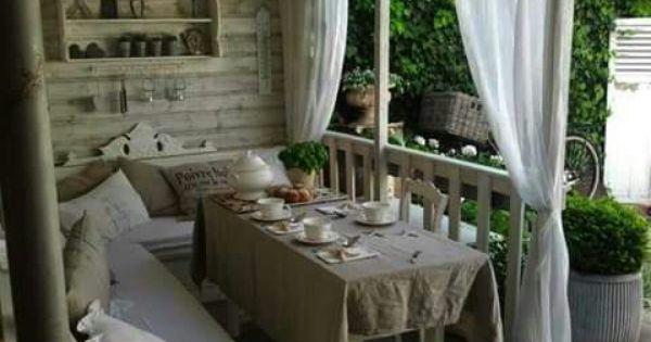 Impecables muebles para el porche so ando pinterest - Muebles para porche ...