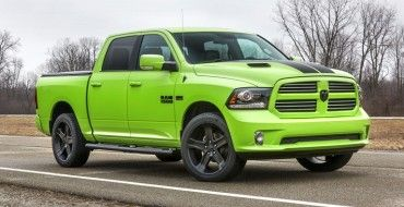 Ram Adds Sublime Lime Green And Blue Streak Color Schemes To Its Exterior Collection Ram 1500 Dodge Ram Sport Ram Sport