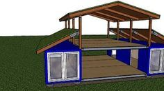 Garage Or Storage Idea Shipping Container Roof Cover Shelter Kit Suits 2 X 20ft Cheap Barn She Shipping Container Sheds Container House Plans Container House