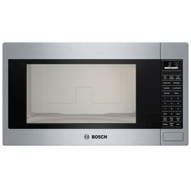 584 Bosch 500 Series 2 1 Cu Ft Built In Microwave With Sensor Cooking Controls Stainless Steel Built In Microwave Built In Microwave Oven Microwave