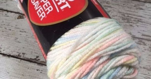 Red Heart Super Saver Yarn Worsted Weight Variegated