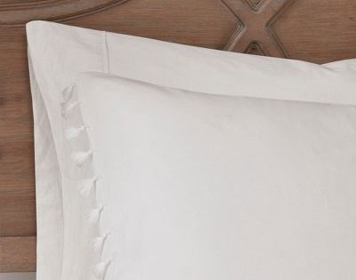 3pc King California King Sula Cotton Duvet Cover Set White With