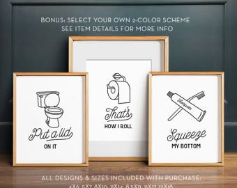 This Is How We Roll Printable Bathroom Art Funny Wall Decor Etsy In 2020 Funny Bathroom Art Bathroom Art Printables Funny Wall Decor