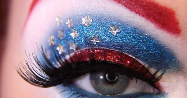 Avengers : Eye Makeup Captain America | Eye Makeup Ideas