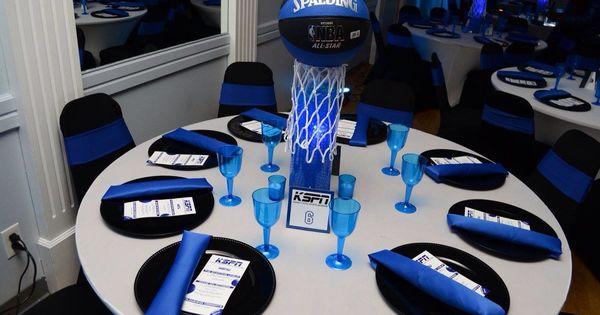 ESPN Theme Centerpiece ESPN Birthday Party Bar