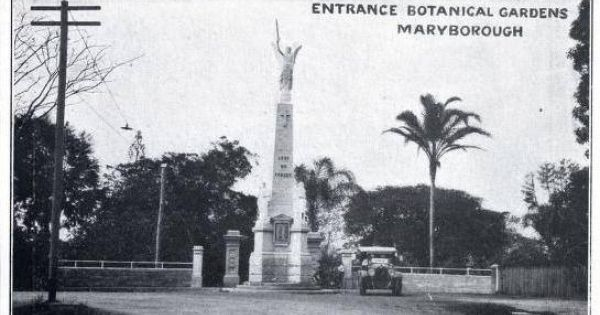 1926 Entrance To Queen S Park Beautiful Queensland Cenotaph Entrance Beautiful