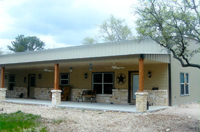 Metal building house home sweet home one day for Metal barn homes texas