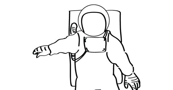 Astronaut Coloring Page Printable.
