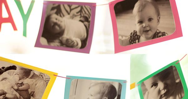 DIY Photo Banner, Birthday Banner, 1st Birthday Photo Banner