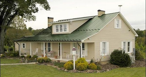 Exterior house colour schemes with green roof google search house colour ideas pinterest - Exterior metal paint colors ideas ...