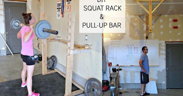 Diy squat rack and pullup bar http simplysadiejane