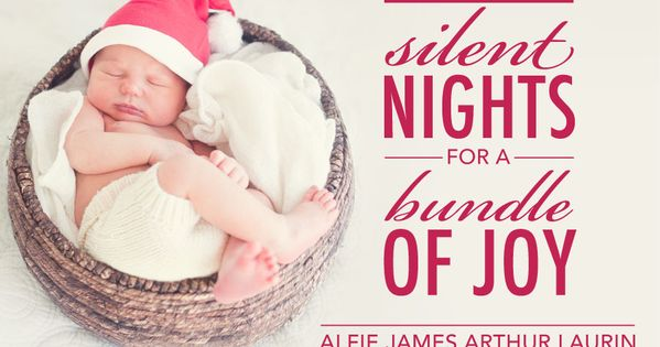 Christmasbirth announcement Oh baby Pinterest – Birth Announcements Winnipeg
