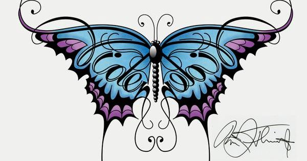 Butterfly name Tattoo