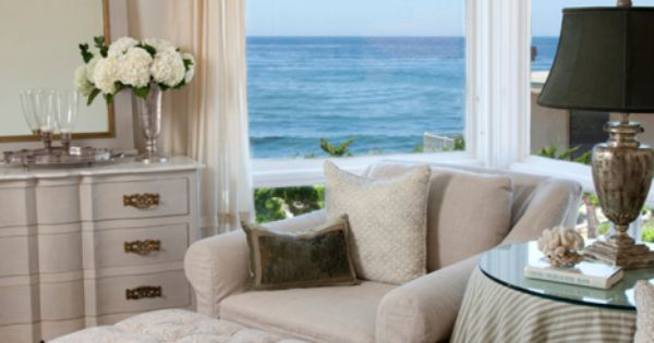 Corner sitting area ~ beach house bedroom