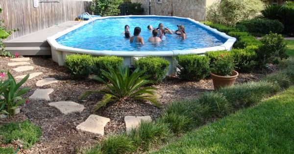 Planting shrubs around the base of your above ground pool - Nice above ground pools ...
