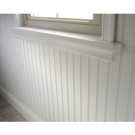Shop 47 75 In X 7 98 Ft Beaded White Hardboard Wall Panel At Lowes Com White Wall Paneling Wall Paneling Bathroom Wall Panels