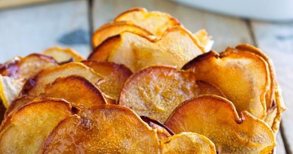 Slow Roasted Pear Chips with Chocolate Sauce | Pears, Chips and Snacks