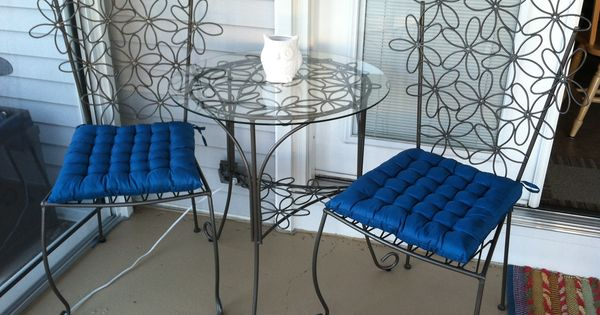 The Refinished Bistro Set My Sunroom Pinterest Best Bistro Set Small Porches And Patios