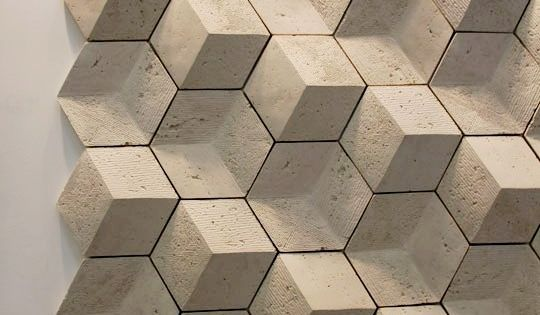 Brutalist 3d Concrete Wall Tiles Mosaikfliesen Hexagon