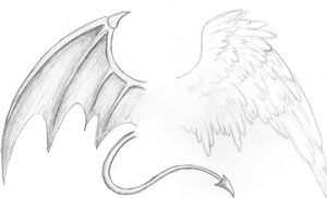 Teufel Und Engelsflugel Engelsflugel Zeichnung Engel Zeichnen Flugel Zeichnung