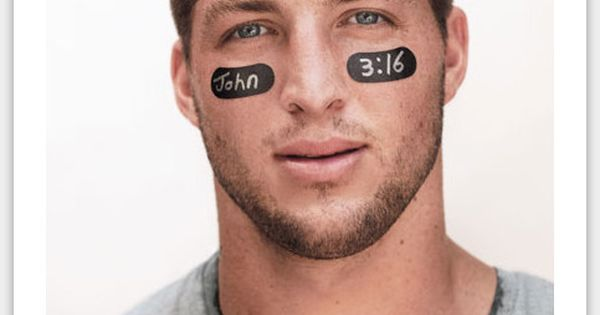 When Tim Tebow wore John 3:16 on his eye black to a