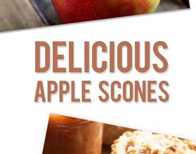 Whole Wheat Cinnamon Apple Scones | Recipe | Apple Scones, Scones and ...