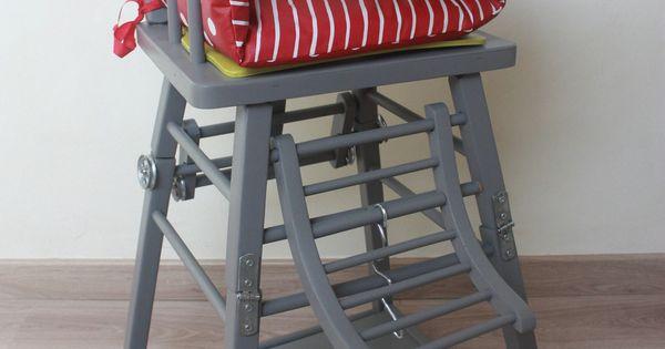 chaise haute en bois vintage pour poup e vintage et b b. Black Bedroom Furniture Sets. Home Design Ideas