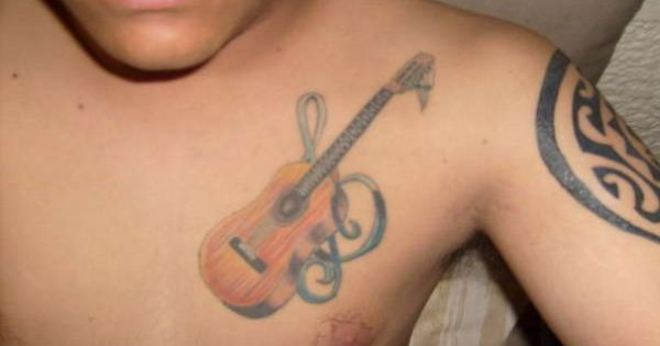 Guitar tattoo  Acousti...