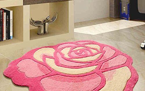 Carpet Long Gang Shop Rosette Handmade Foyer Mat Mattress 90 90cm Bedroom Flooring Bedroom Carpet Patterned Carpet