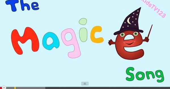 The Magic E Song This is a great video to review how silent e ...