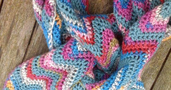 Free Crochet Pattern For Zig Zag Scarf : new zig zag scarf image Crochet Scarves Pinterest ...