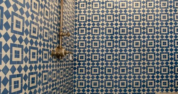 Cement tiles shower