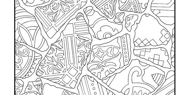 mosaic masterpiece coloring pages - photo#24