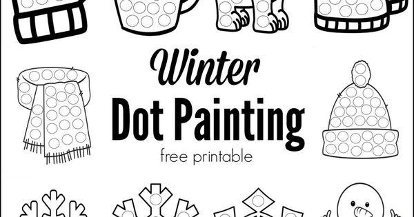 Winter Dot Painting {Free Printable