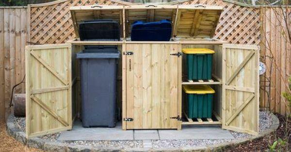 Bellus Double Wheelie Bin And Recycling Box Storage Wheeliebinstoragedirect Co Uk Garden Storage Bin Store Wooden Bins