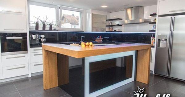 Kombinacja Wyspa Zintegrowana Ze Stolem Kitchen Design Modern Kitchen Design Modern Kitchen Design Grey