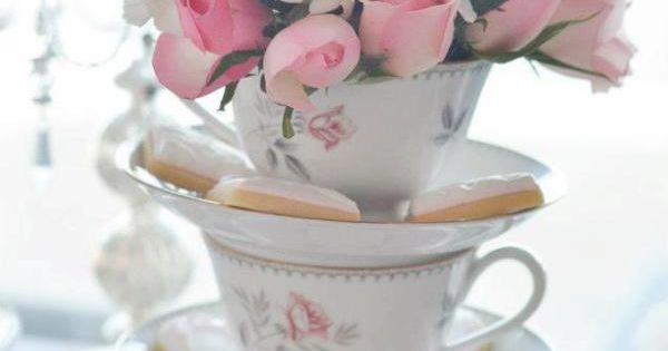 Pretty Pink Vintage Tea Party via Kara's Party Ideas | teacup and