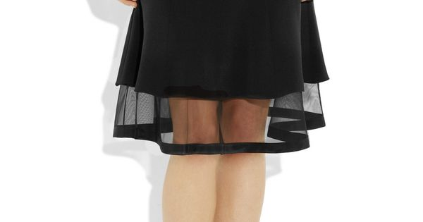 Prabal Gurung - Silk-crepe and tulle skirt | 345.00 on sale from