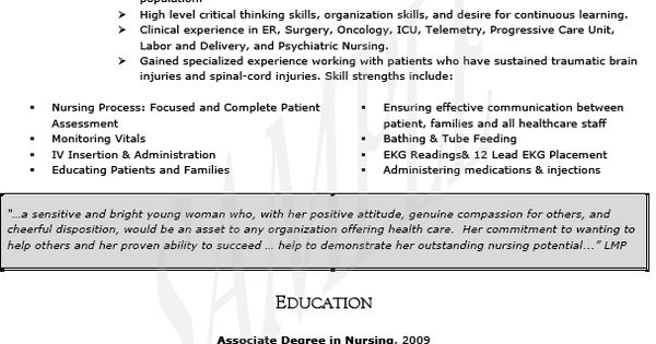 Oncology Nurse Resume Templates -   wwwresumecareerinfo
