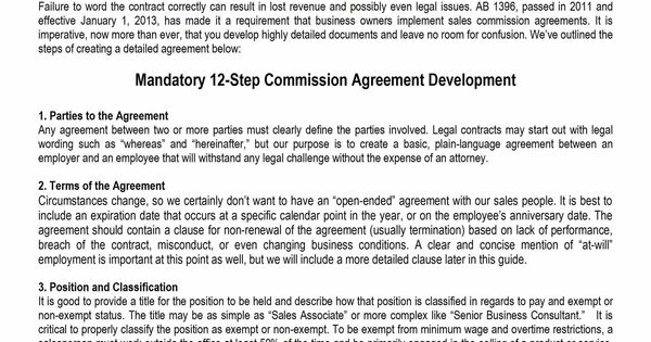 you Sample Commission Agreement Template can pay or get paid a lot - commission sales agreement