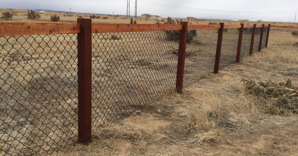 4 California Chain Link Fence Using 4x4 Cedar Posts And