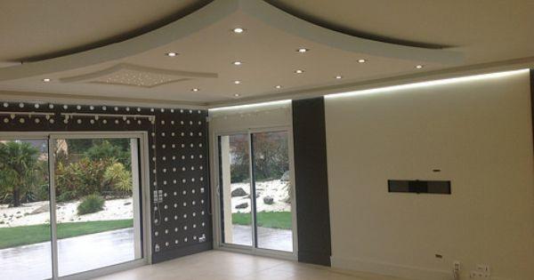 Corniche Lumineuse Plafond Design Amenagement Interieur Maison Plafond