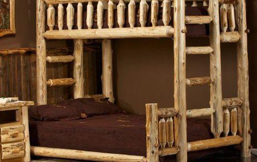 Cedar Lake Xl Twin Over Queen Log Bunk Bed V Roce 2020