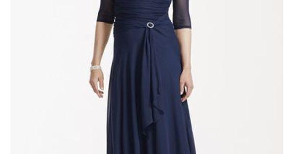 Tea Length Chiffon Dress With Pleated Bodice AWYEC23 $100