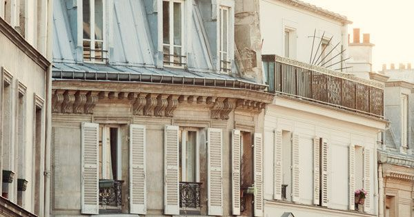 Pale Paris Morning - Montmartre, Paris Photography, Pale White and Cream, Shabby