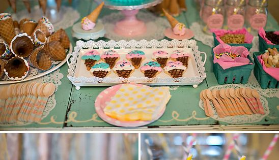 Ice Cream Themed Birthday Party