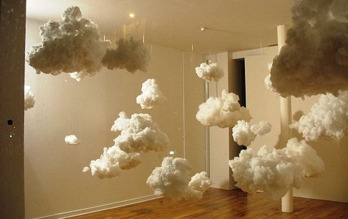 diy paper lantern clouds - I want to make these hang above
