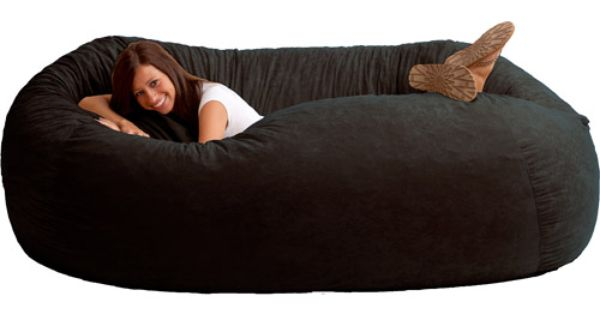 Xxl 7 Fuf Comfort Suede Bean Bag Black Onyx Bags A Tv