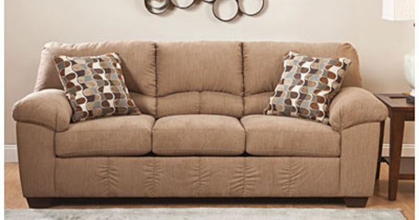 Signature Design By Ashley Hillspring Sofa Brown Sofa Living Room Sofa Pictures Leather Living Room Furniture